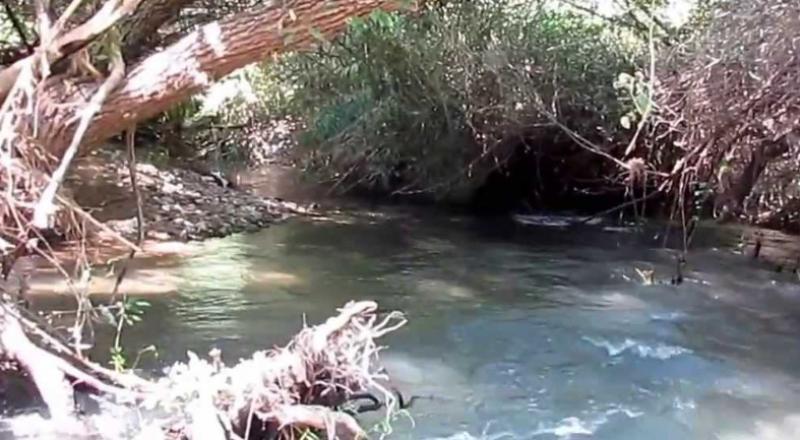 تلوّث في نهر البانياس بسبب تدفق مياه مجاري .. وتحذير من الدخول إلى المياه