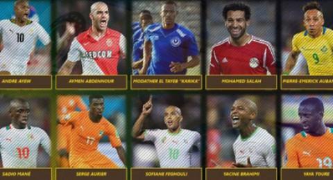 عبد النور وفيغولي وصلاح يتنافسون على لقب أفضل لاعب أفريقي