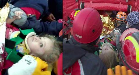 تركيا: بعد مرور 65 ساعة تحت الأنقاض...إنقاذ طفلة في الثالثة من العمر