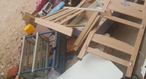نحف: مياه الأمطار تغمر منزل أحد المواطنين