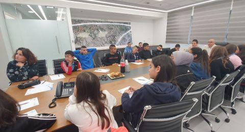 مَجلسُ الطُّلّاب في مَدرسة وادي النُّسور - أم الفحم يُقيم شَراكاتٍ عِلميَّةٍ مَع المُؤسَّسات المُختلفة