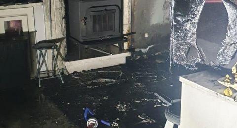 جولس: حريق هائل في منزل واصابة سيدة