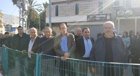 شفاعمرو: وقفة ضد العنف نظمها رئيس ولجنة موظفي البلدية