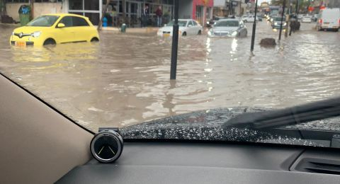 فيضانات بالشارع الرئيسي في عددٍ من البلدات