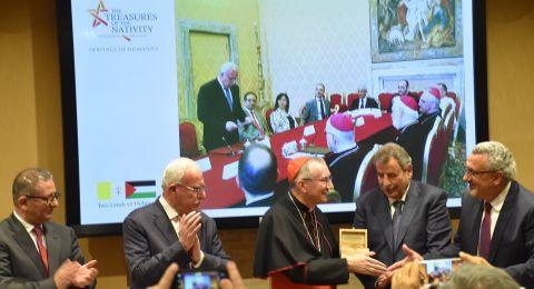 بعنوان :كنوز الميلاد، تراث الإنسانية  فلسطين تحتفل بترميم كنيسة المهد في متاحف الفاتيكان