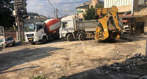 المجلس الأقليمي بستان المرج يرمم ويوسع مركز قرية سولم