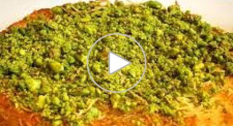 الكنافة النابلسية بالمقلاة بالفيديو