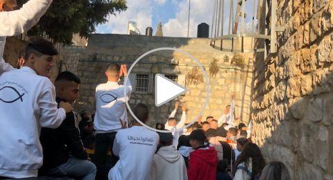 القدس: محاولات قمع واعتقالات خلال احتفالات التجمع الوطني المسيحي باعياد الميلاد