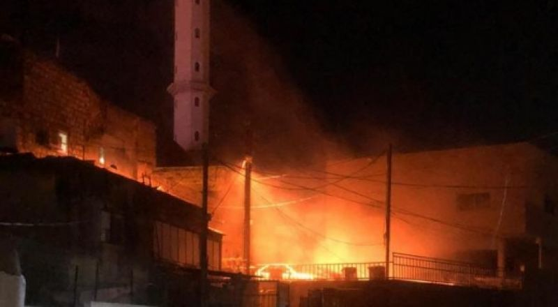دير حنا: حرق سيارة والتسبب بأضرار مادية