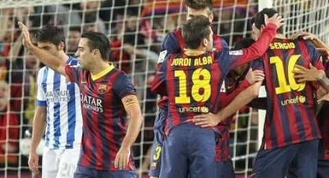 برشلونة ينهي مباراة الذهاب بفوز ثمين على ريال سوسيداد