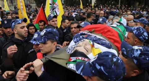 تشييع جثمان الشهيد الرقيب أول طارق بدوان