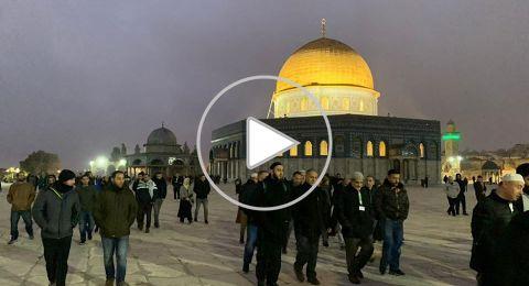اقتحام الأقصى قبيل صلاة الفجر والشرطة تعزز قواتها في القدس