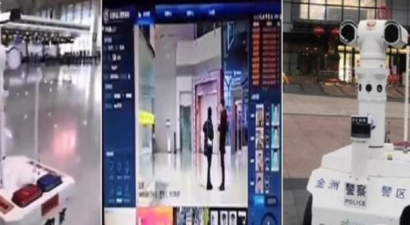 روبوتات في شوارع الصين لقياس حرارة المارة