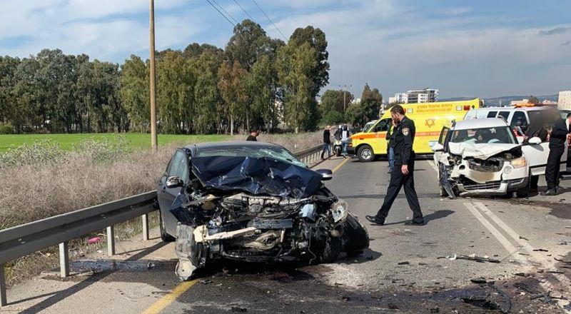 إصابات متعددة بحوادث طرق في العفولة وتل السبع ومركز البلاد