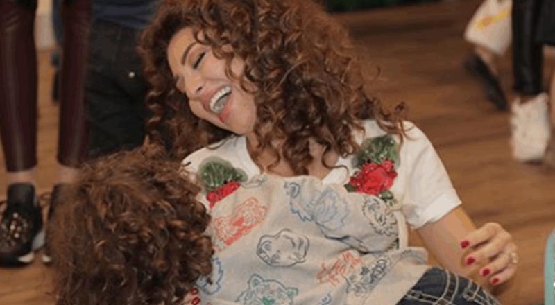 رجل يقبل ميريام فارس في عيد ميلاد ابنها.. هل هو زوجها؟