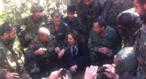 رغدة بين جنود جيش النظام السوري