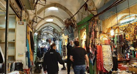 الأسواق في القدس تعاني من ضعف الحركة التجارية، ورئيس لجنة التجار يتحدث...