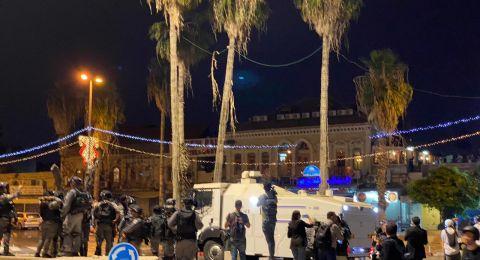 مواجهات مع الشرطة واعتقال 3 مواطنين في باب العامود بالقدس