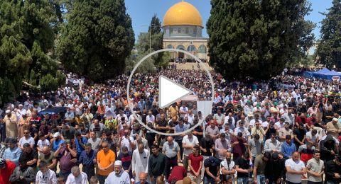 70 ألف مصل في صلاة الجمعة الأخيرة من شهر رمضان بالمسجد الأقصى