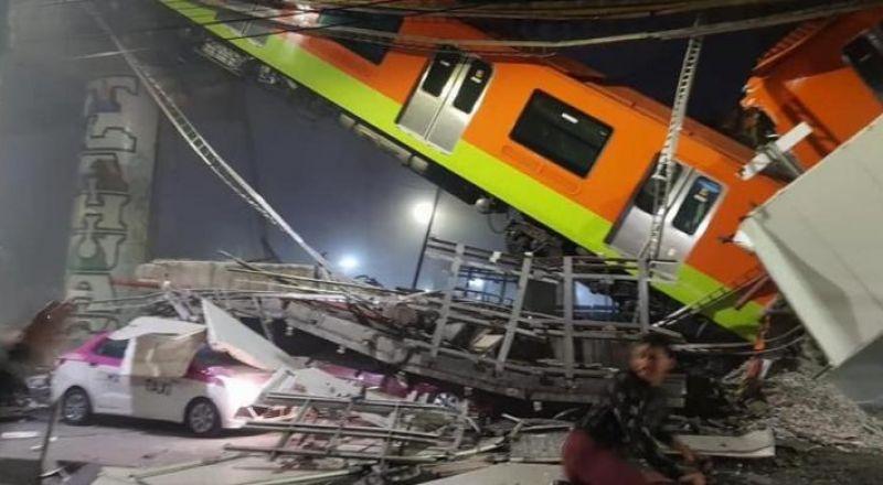 مقتل 13 وإصابة 70 بانهيار جسر في المكسيك