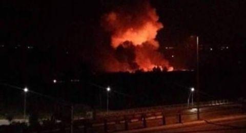 شهيد واصابتان بقصف اسرائيلي على مطار التيفور بحمص