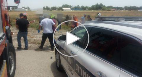 مصرع شخص وإصابة اخر في تحطم طائرة قرب مجيدو