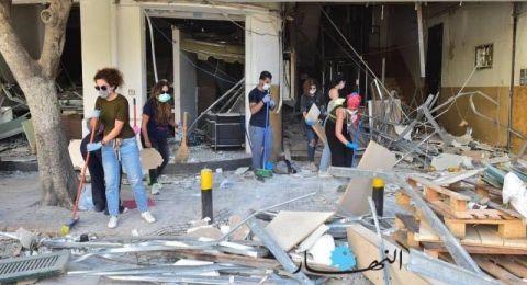 بيروت لا تُقهر.. رغم الألم والمعاناة اللبنانيون يتطوّعون في الشوارع