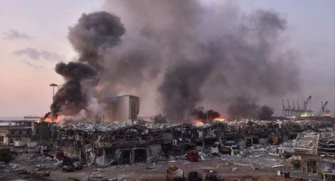 عمليات الإغاثة مستمرة في بيروت.. وارتفاع حصيلة الشهداء إلى 137