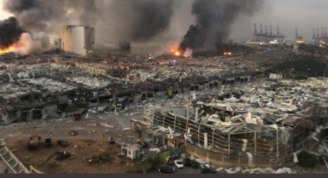 إسرائيل تتابع انفجار بيروت بـ