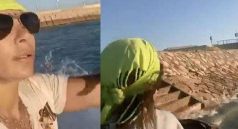 اصطدمت بالصخور وسط البحر.. اصالة تنجو من الموت بأعجوبة وفيديو يوثق ما حصل
