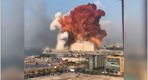 لبنان.. انفجار ضخم يهز بيروت وسقوط عدد من الجرحى- فيديو