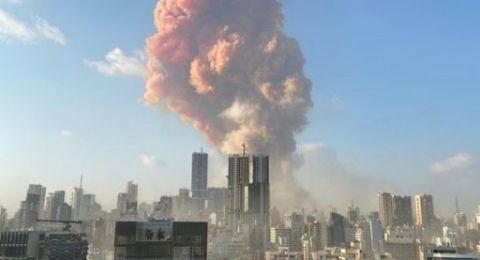 خبير يفسر اللون الوردي للانفجار في بيروت