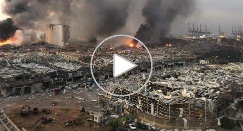 مباشر من بيروت: 72 شهيداً و 3700 جريحاً جراء انفجار