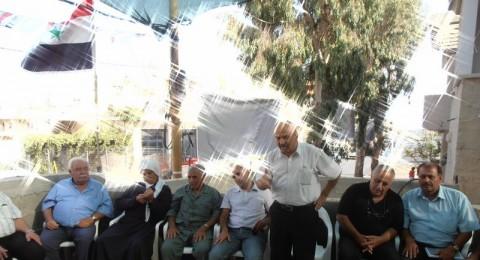 وفد كبير من لجنة المبادرة الدرزية يهنئ الاسير المحرر صدقي المقت في مجدل شمس
