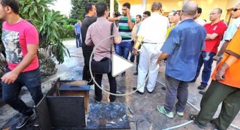 اقتحام مقر اتحاد الكرة المصري وسرقة كؤوس