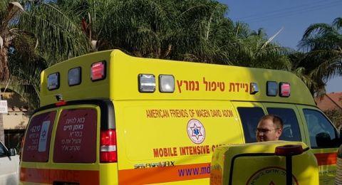حادث عمل آخر اليوم: إصابة بالغة لشاب بورشة في تل أبيب