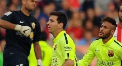 برشلونة يعود للصدارة مؤقتاً بفوز ثمين على الميريا