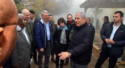 نتنياهو يتجول مع سفراء أجانب قرب الحدود اللبنانية
