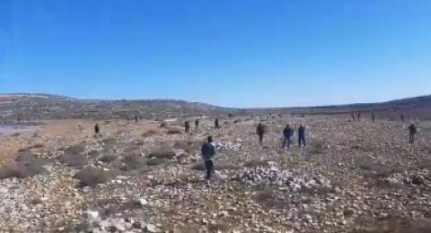 إصابات بالاختناق خلال قمع القوات الاسرائيلية لمسيرة سلمية شرق رام الله