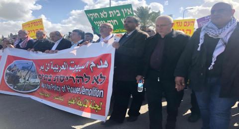 قلنسوة: المئات في مظاهرة المتابعة للتنديد بسياسة الهدم