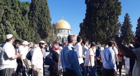 شخصيات مقدسية تحذر من الاطماع الإسرائيلية في المسجد الاقصى