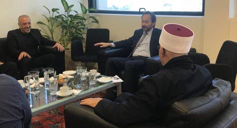 النائب أكرم حسون والشيخ زيدان عطشة يجتمعان مع سفير الاتحاد الاوربي