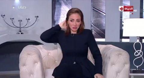 انهيار ريهام سعيد من البكاء اثناء مداخلة والدتها مباشرة على الهواء