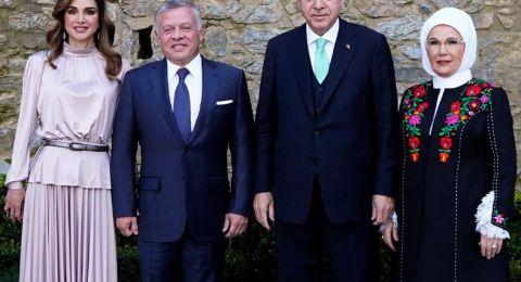 عقيلة أردوغان تشكر ملك الأردن وزوجته على زيارتهما تركيا