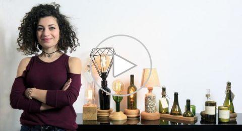 عبوات الزجاج أشكالًا فنية بتوقيع مريم عاصي