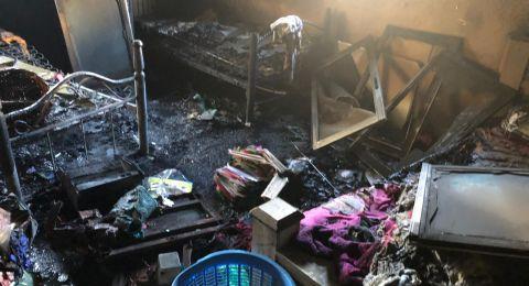 العيسوية: اندلاع حريق في شقة منزلية واصابة شخصين