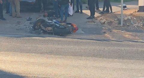 إصابة سائق دراجة نارية بجراح بالغة قرب عليبون