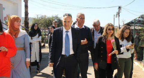 سخنين: وفد وزارة التربية والتعليم يزور مدرسة البطوف الزراعية