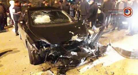 دالية الكرمل: حادث طرق واصابة سيدة بصورة متوسطة