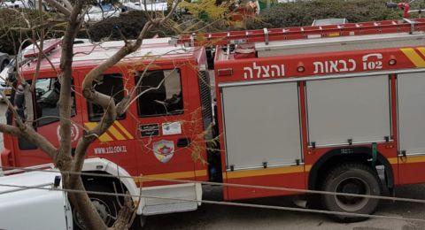 سلطة الاطفاء في بيان مصحح: الحريق نشب في بناية بالمجيدل وليس الناصرة!